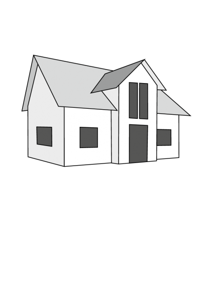 Zeichnung-Haus